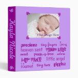 Purple Girls Baby Book Binders