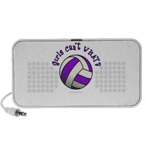 Purple Girls Volleyball Laptop Speaker