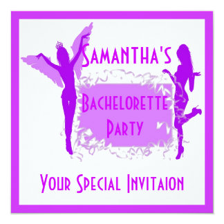 Purple Girly Bachelorette Party Card