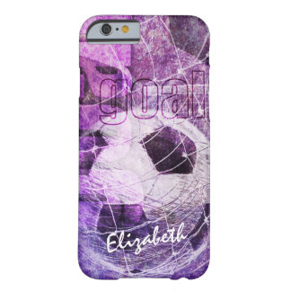 Purple Girly Soccer Barely There iPhone 6 Case