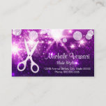 "Purple Glamour Hair Stylist Appointment Card<br><div class=""desc"">Create your own Appointment Card with this stylish &quot;Purple Glamour Scissor Logo&quot; template. It&#39;s easy and fun! (1) For further customization, please click the &quot;Customize&quot; button and use our design tool to modify this template. All text style, colors, sizes can be modified to fit your needs. (2) If you prefer...</div>"
