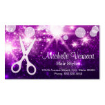 Purple Glamour Hair Stylist Appointment Card Double-Sided Standard Business Cards (Pack Of 100)