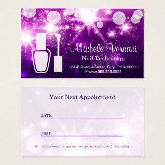 Nail Technician Business Cards & Templates | Zazzle