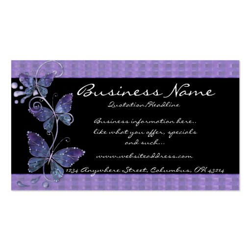 10000 butterfly business cards and butterfly business for Butterfly business cards