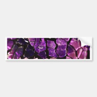 Purple glass fragments bumper sticker