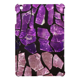 Purple glass fragments case for the iPad mini