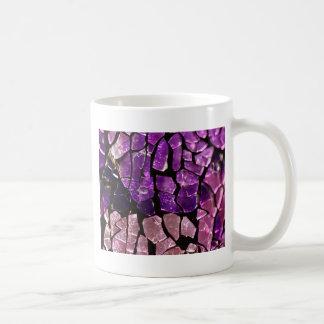 Purple glass fragments coffee mug