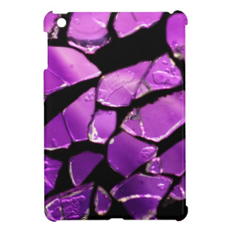 Purple glass fragments cover for the iPad mini