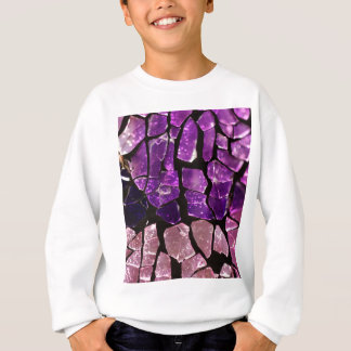 Purple glass fragments sweatshirt