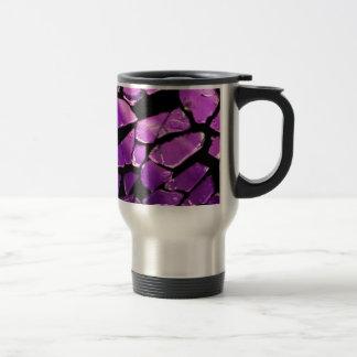 Purple glass fragments travel mug