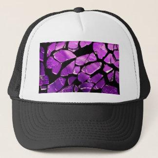 Purple glass fragments trucker hat