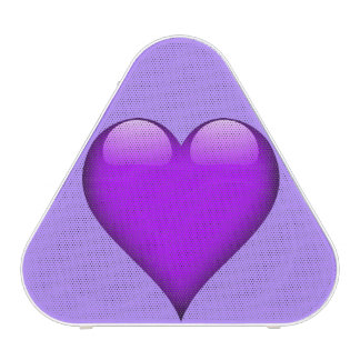 Purple Glass Heart Customizable Speaker