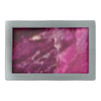 purple glass rocks rectangular belt buckle