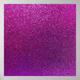 Purple Glitter Background Glittery Sparkle Poster