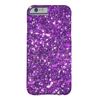 Purple Glitter Barely There iPhone 6 Case