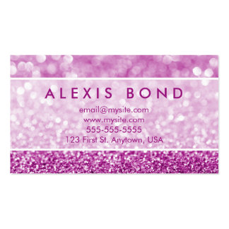 purple glitter business cards templates zazzle. Black Bedroom Furniture Sets. Home Design Ideas