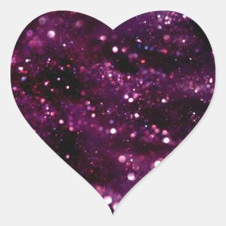 PURPLE GLITTER BOTEK SPACE FANTASY SCIENCEFICTION HEART STICKER