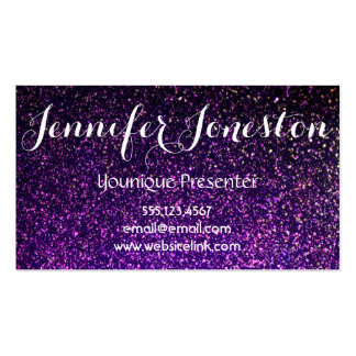 purple glitter business cards, presenter cards business card