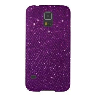 Purple Glitter Case For Galaxy S5