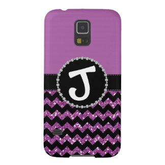 Purple Glitter Chevron Lg Diamond Ribbon Galaxy S5 Galaxy S5 Case