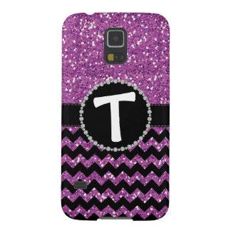 Purple Glitter Chevron Lg Diamond Ribbon Galaxy S5 Case For Galaxy S5