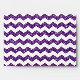 Purple glitter chevrons envelope
