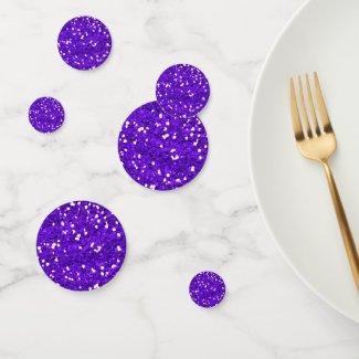 Purple Glitter Confetti