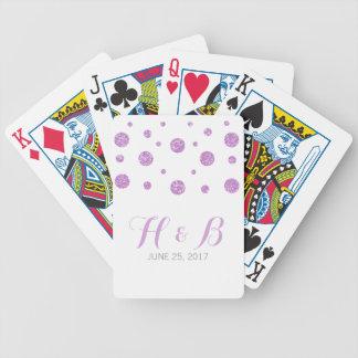 Purple Glitter Confetti Playing Cards