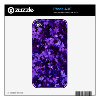 Purple Glitter Decals For The iPhone 4