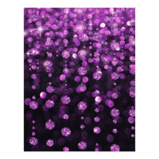 "Purple Glitter Diamonds 8.5"" X 11"" Flyer"