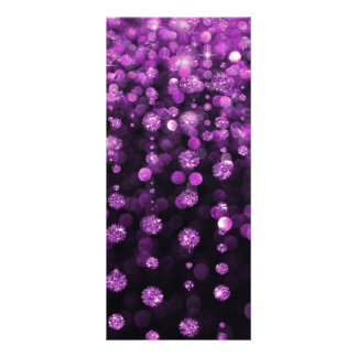 Purple Glitter Diamonds Rack Card