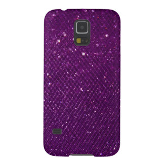 Purple Glitter Galaxy S5 Case