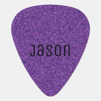 Purple Glitter Guitar Pick by Lilleaf at Zazzle