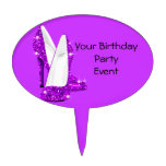 Purple Glitter High Heel Shoes Stilleto Cake Toppers