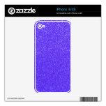 Purple glitter iPhone 4 decal