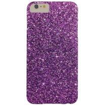 Purple Glitter iPhone 6 Plus Cases
