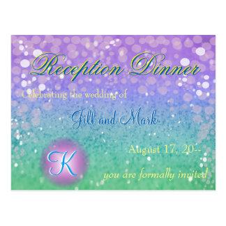 Purple Glitter Lantern Confetti Glam Glo Reception Postcard