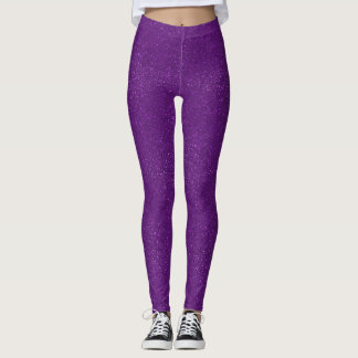 Purple Glitter Leggings
