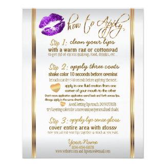 Purple Glitter Lip Instructions 2 Flyer