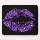 Purple Glitter Lips #2 Mouse Pad