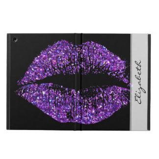 Purple Glitter Lips Cover For iPad Air