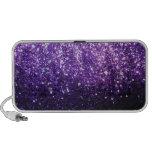 Purple Glitter look iPhone Speaker