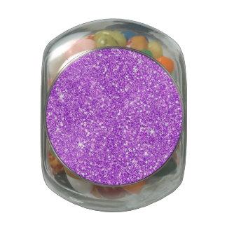 Purple Glitter Luxury Diamond Glass Candy Jars