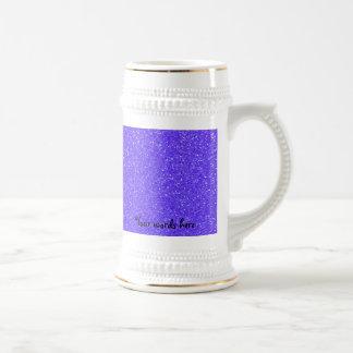 Purple glitter 18 oz beer stein