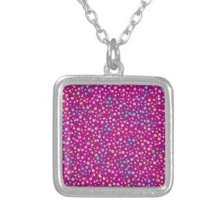 Purple Glitter Personalized Necklace