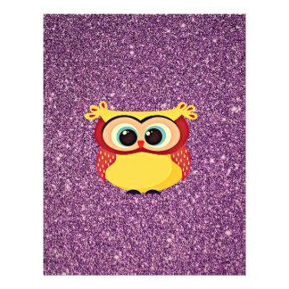 Purple Glitter Owl Flyer