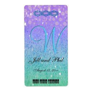 Purple Glitter Patio Lantern Confetti Glam Blue Label