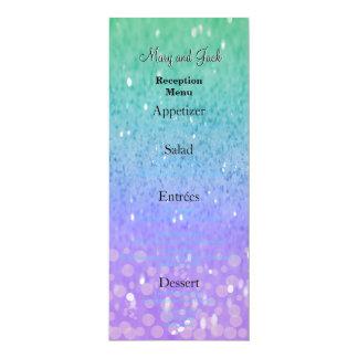 Purple Glitter Patio Lantern Confetti Glam Glow Card