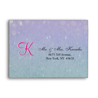 Purple Glitter Patio Lantern Confetti Glam Glow Envelope