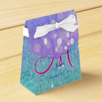 Purple Glitter Patio Lantern Confetti Glam Glow Favor Box